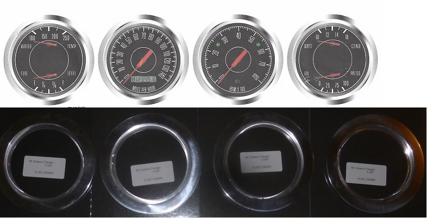 66 charger special egaugesplus 66 67 dodge charger gauge package electric speedometer w indicators 3