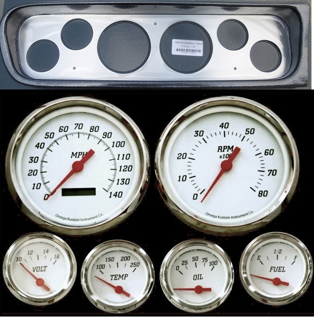 1964- 1965 ford falcon  ranchero dash packages