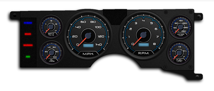 79-86 ford mustang direct fit gauge package