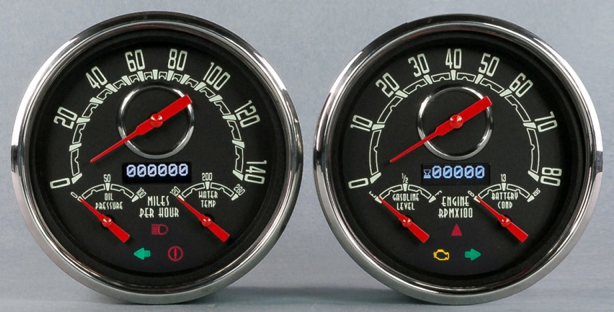 Vintage woodward series gauges