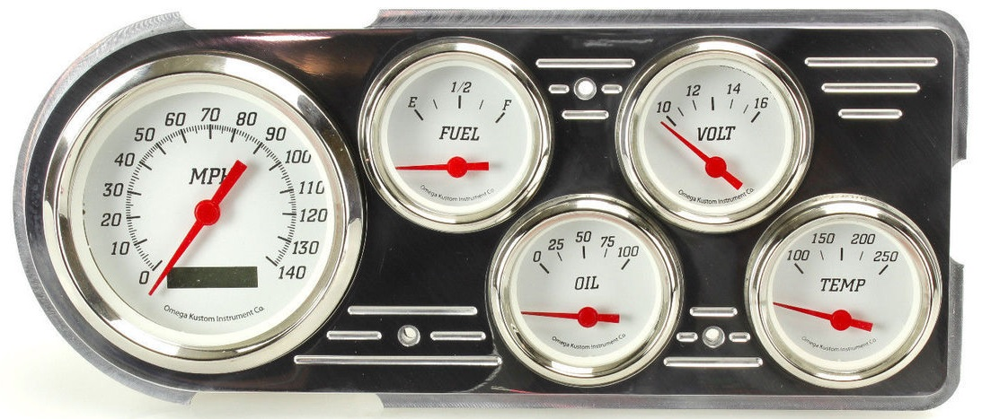 1948 - 1950 Ford truck Gauge Packages - egaugesplus Omega Kustom Gauges Sending Wiring Diagrams on
